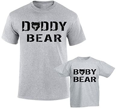e8be9fe11 SuperPraise Daddy Daughter Dad Son Matching T Shirts Daddy Bear & Baby Bear