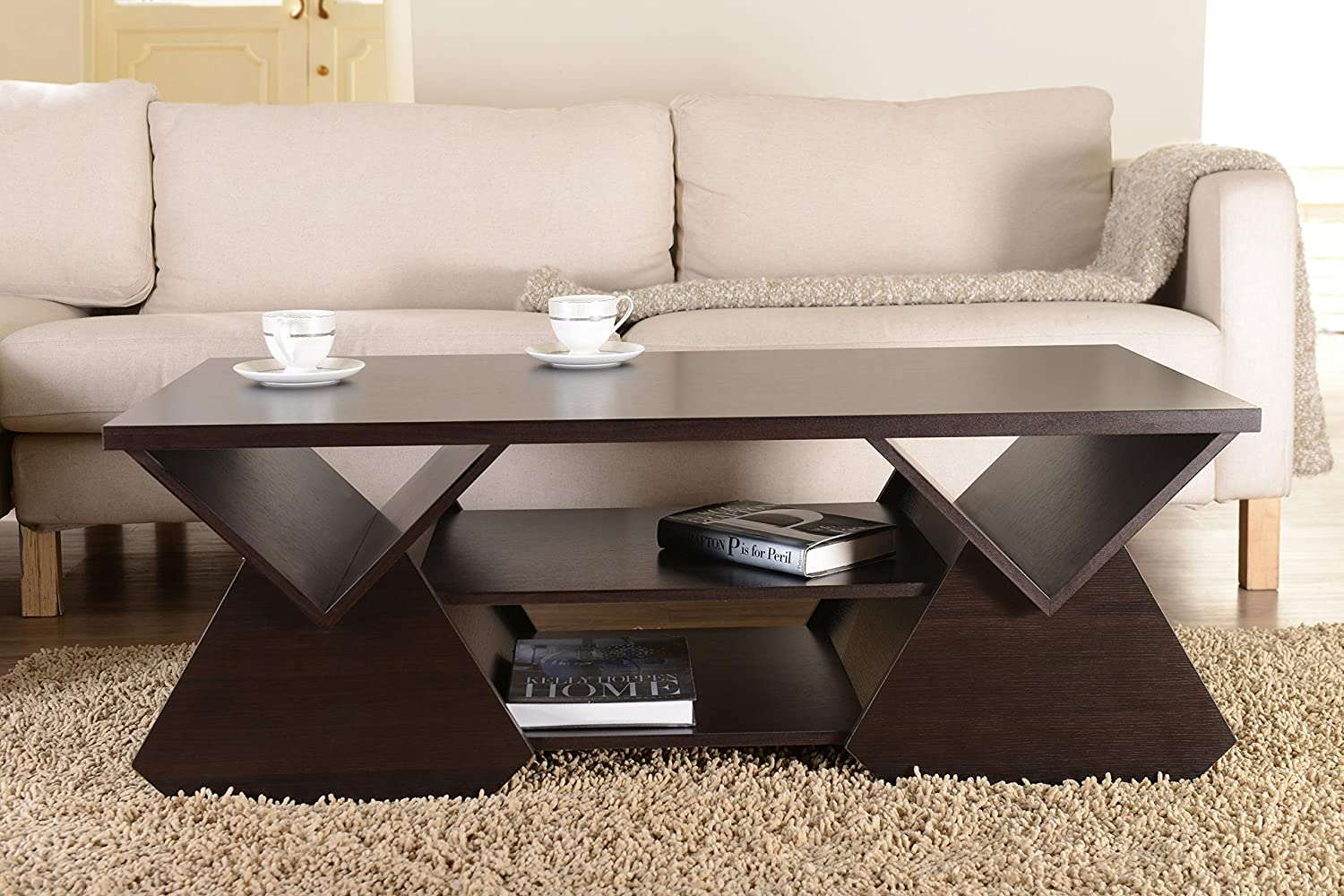 Amazon iohomes chinua modern coffee table espresso kitchen amazon iohomes chinua modern coffee table espresso kitchen dining geotapseo Gallery