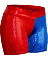 "Childrens 4"" Red and Blue Cosplay Shorts"