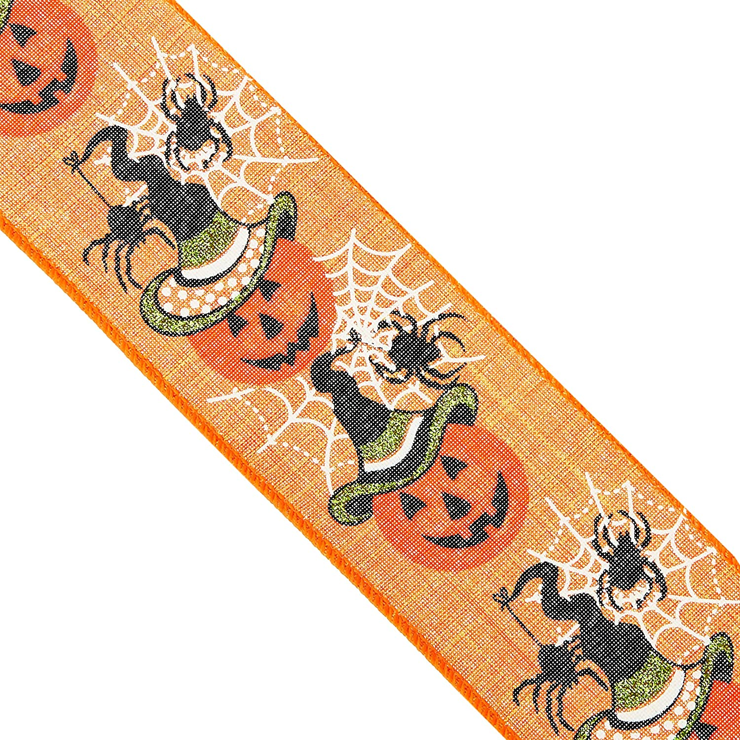 MAY ARTS~BLACK WEB NET RIBBON~100/% POLYESTER~HALLOWEEN WEBS~2 INCHES X 1 YARD