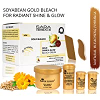 Sara Oxy Gold Shine & Glow Bleach Cream Anti Aging and Skin Brightening Formula with Essential Vitamins (270 g)
