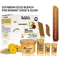 Sara Oxy Gold Shine & Glow Bleach Cream Anti Aging and Skin Brightening Formula with Essential Vitamins (270 g)
