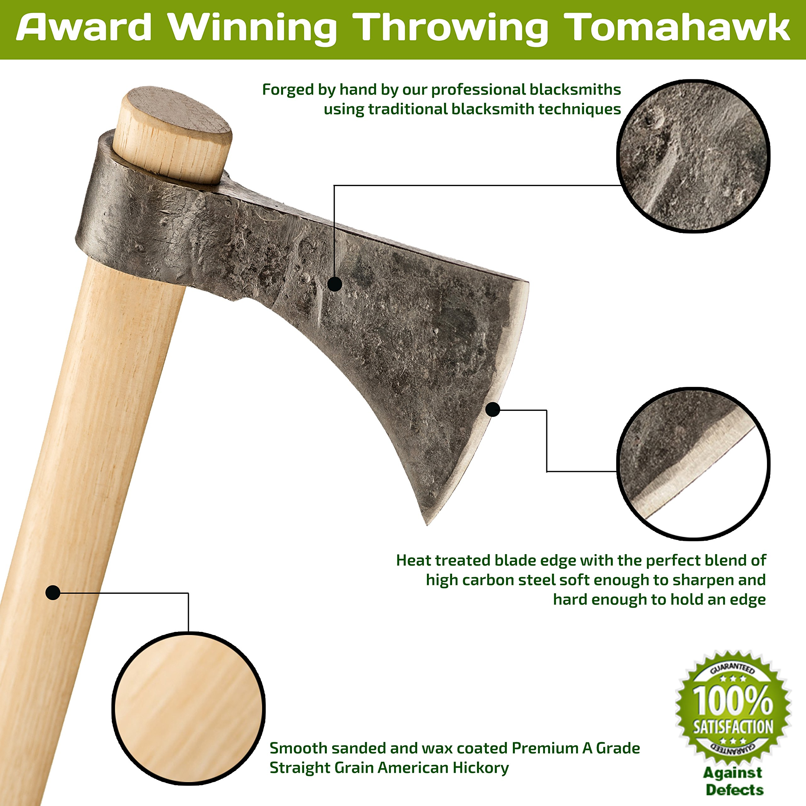 Thrower Supply Hand-Forged Carbon Steel Tomahawk, Natural Steel by Thrower Supply (Image #4)