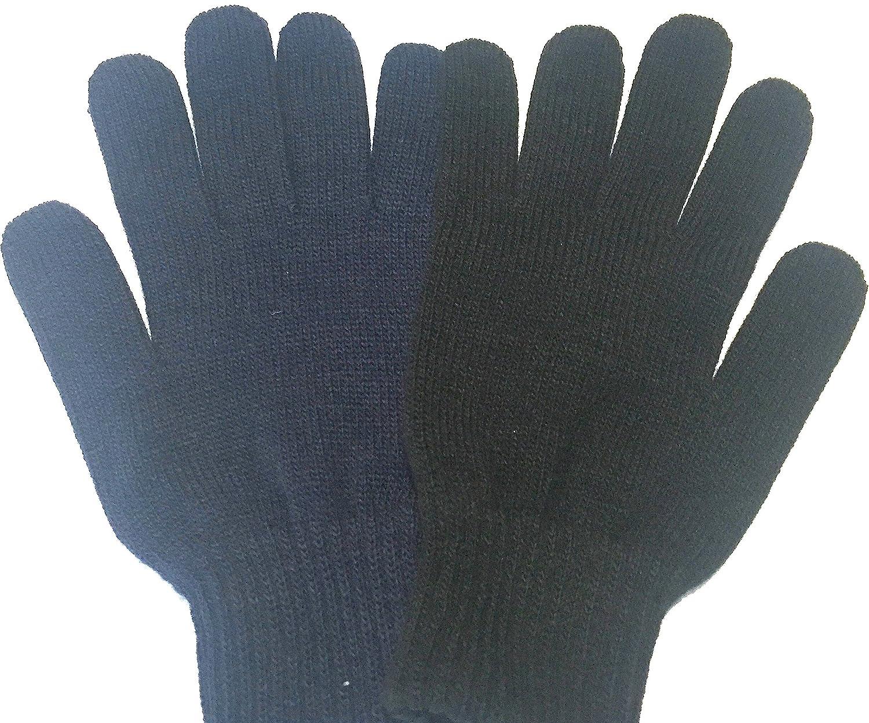 Disponible en azul marino y negro. Unisex Guantes de invierno de lana y acr/ílico