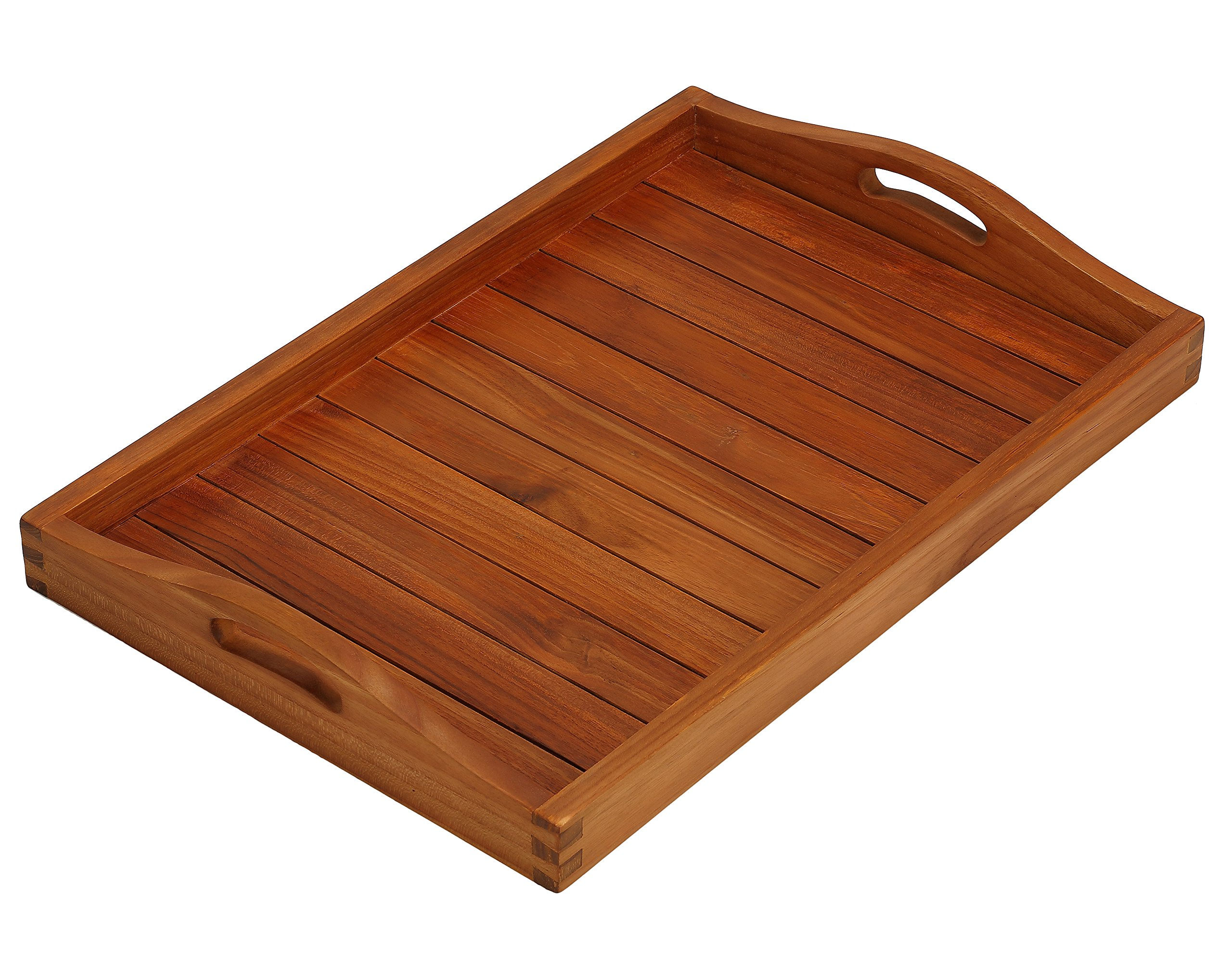Bare Decor Vivi Spa/Serving Tray in Solid Teak Wood