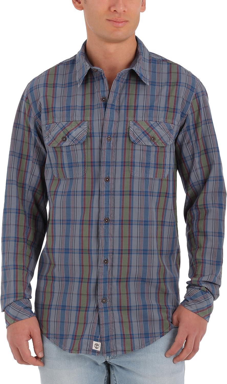Timberland Thompson Vint Manta-Camisa de Manga Larga para ...