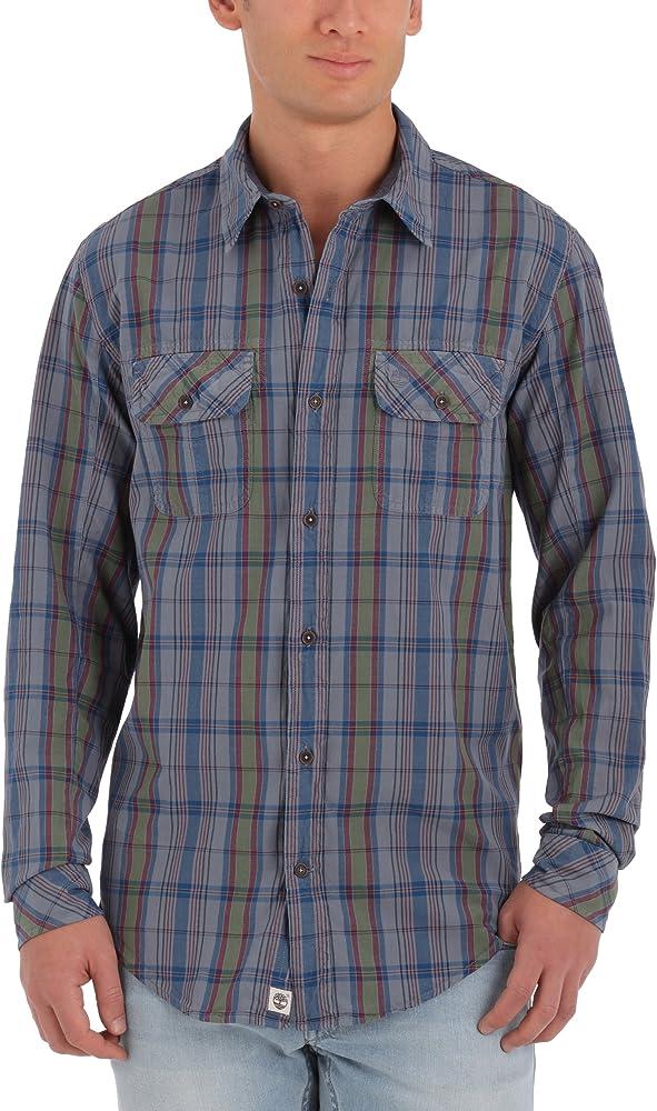 Timberland Thompson Vint Manta-Camisa de Manga Larga para Hombre Bleu (Country Blue) X-Large: Amazon.es: Ropa y accesorios