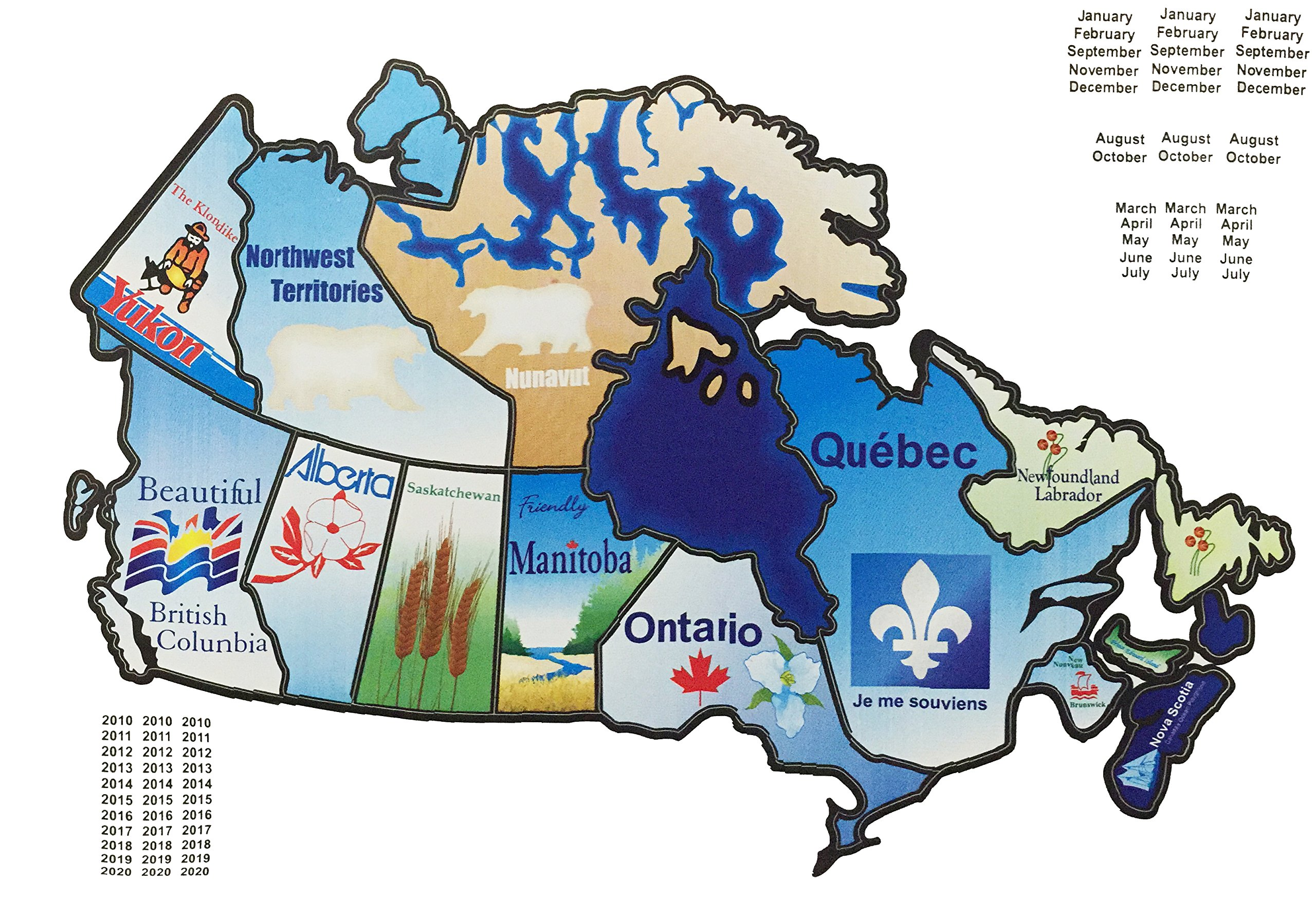 Amazon.com: RV Canada Stickers Motorhome Map Sticker Trailer ...