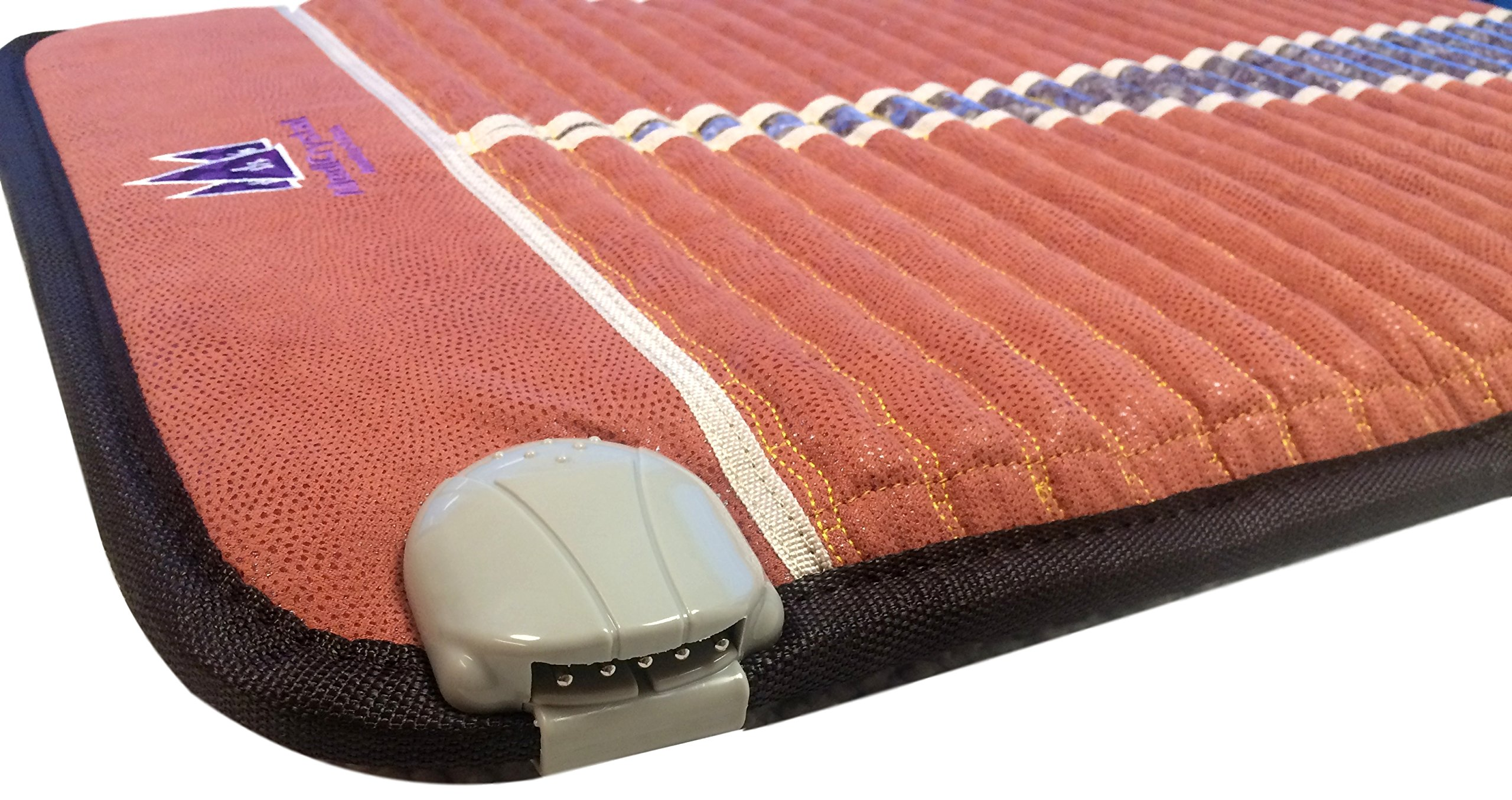 Far Infrared Amethyst Mat Midsize (59''L x 24''W) - Negative Ion - FIR Therapy - Natural Amethyst - FDA Registered Manufacturer - Adjustable Temperature Setting - Hot Crystal Heating Pad - Reddish Brown by MediCrystal (Image #5)