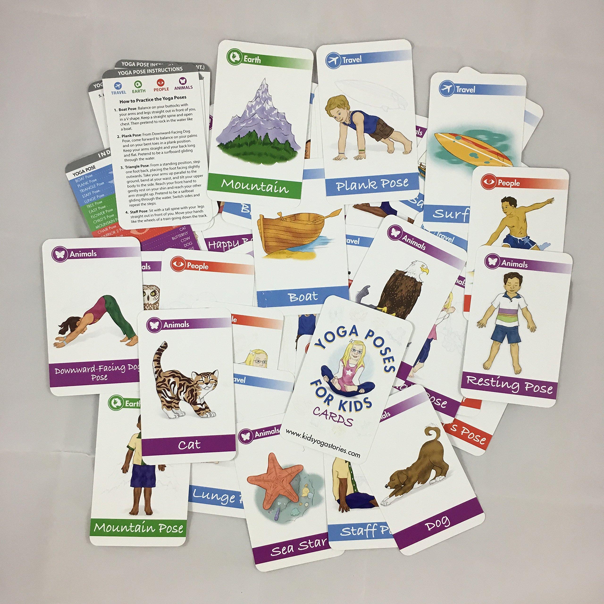 Amazon.com: Tarjetas de posturas de yoga para niños (Deck ...