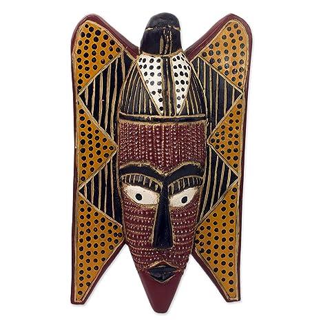 Amazon.com: NOVICA decorativo madera Ghana Máscara ...