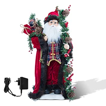 Amazon.com: Christmas Decorations 24 Inch Tall Standing Santa ...
