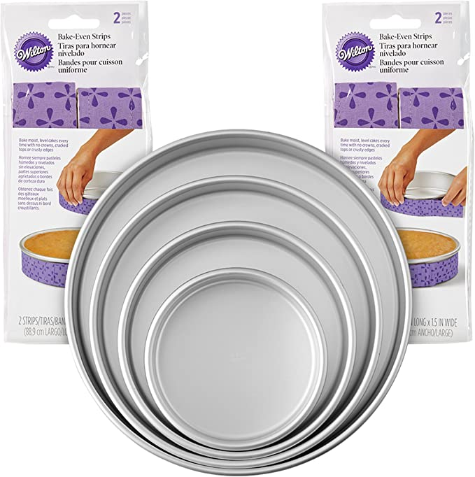 1//2x Wilton Bake-Even Strips Belt Bake Even Bake Moist Level Cake Baking Tool NV