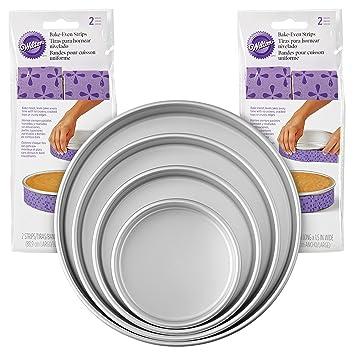 Wilton 2104-3676 - Juego de moldes para tartas (8 unidades), color morado: Amazon.es: Hogar