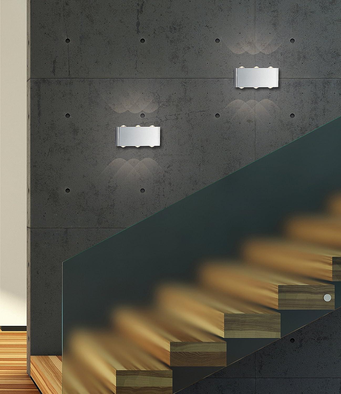 Trio Leuchten LED-Wandleuchte ABERDEEN in Nickel matt 225610607