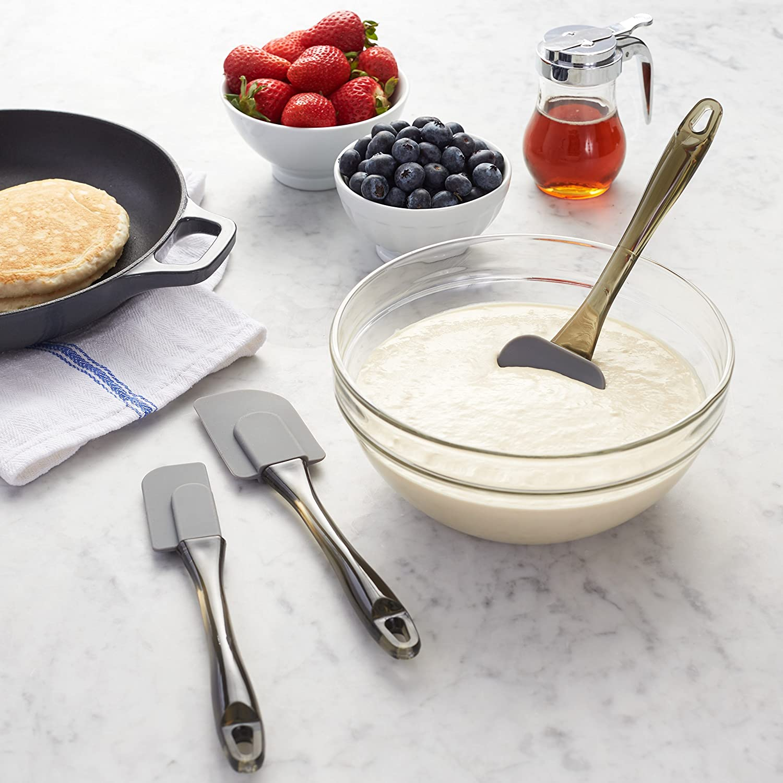 Spatole in silicone set da 3 pezzi /& Kitchen Craft Massello Basics Beige