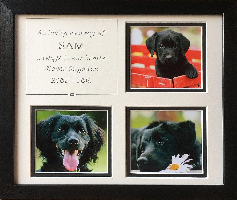 In Loving Memory Pet Memorial Personalised Photo Frame, Black 12 x ...