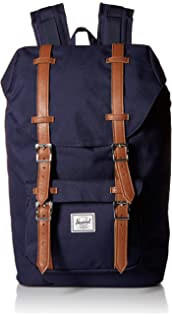 75992247e6d Herschel Little America Mid-Volume Backpack Peacoat Tan Synthetic Leather  One Size