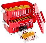 Andrew James – Großer Hot Dog Maker mit Brötchenfach im Amerikanischen Retro Stil, Wursttoaster