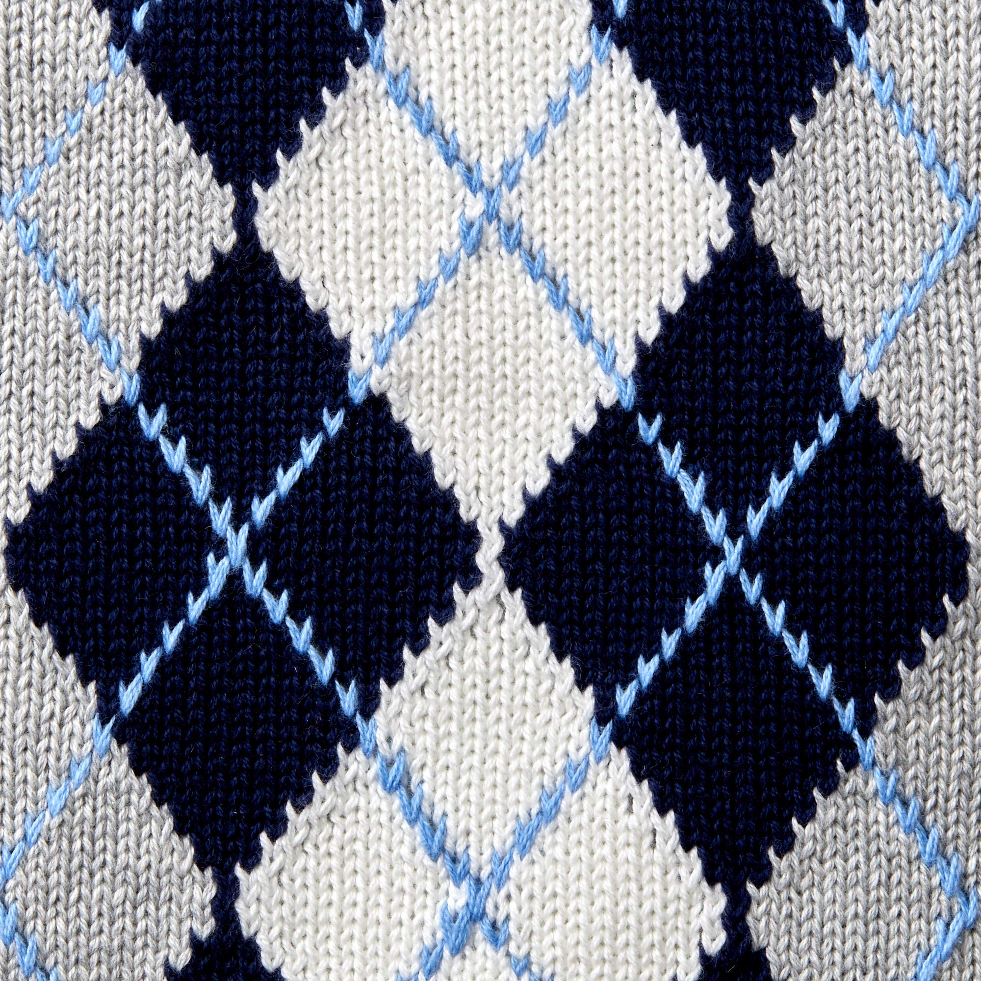 Hope & Henry Boys' Grey Argyle Cable Sweater Vest by Hope & Henry (Image #3)