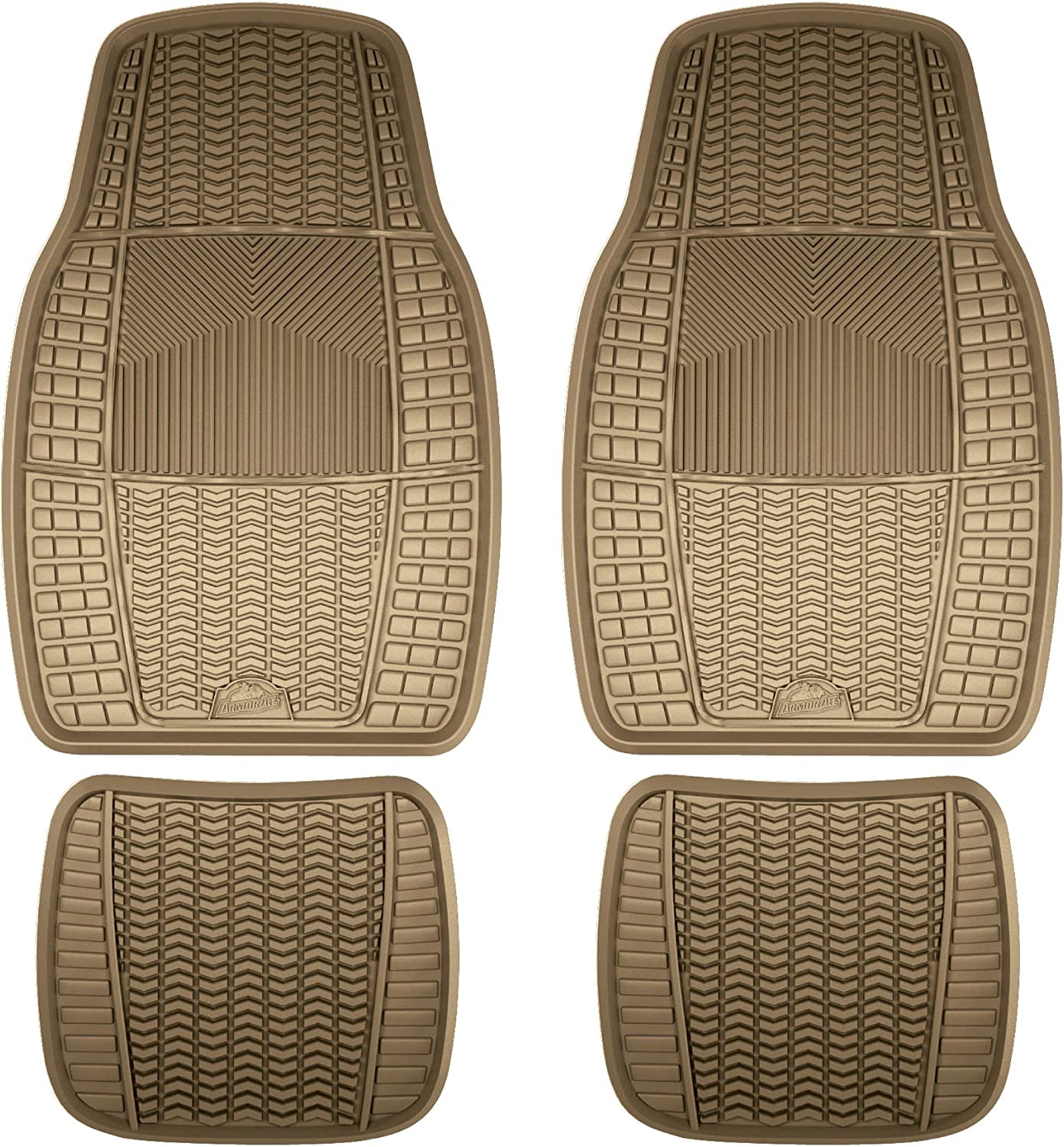 Armor All 78843 Black 3-Piece Full Coverage Rubber Floor Mat