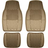 Armor All Custom Accessories 78897 4-Piece Tan Heavy Duty Rubber Floor Mat