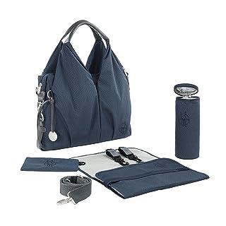 Lassig Women's Green Label Neckline Diaper Bag Spin Dye, Blue Melange