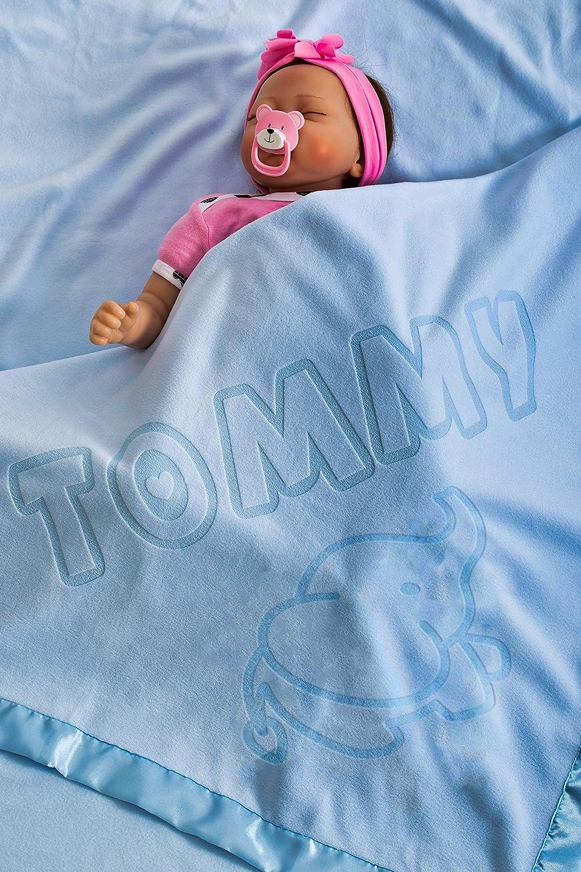 Manta de regalo personalizada para bebés con el nombre, tamaño 88x88CM