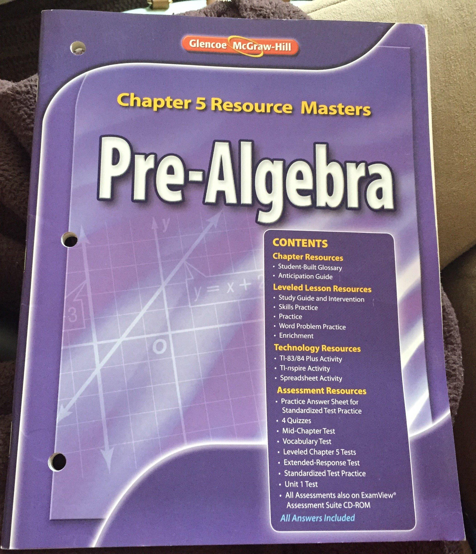Download Glencoe Pre-Algebra Chapter 5 Resource Masters ebook