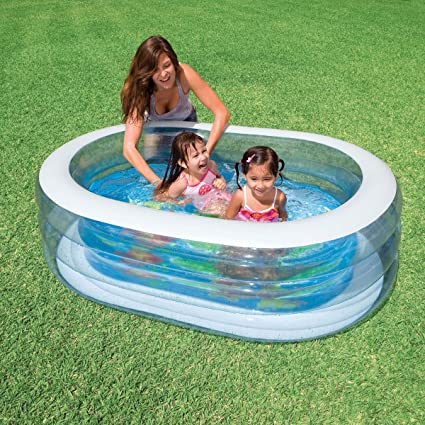 INTEX Ovalada Piscina Ballena 163 x 107 x 46 cm: Amazon.es ...