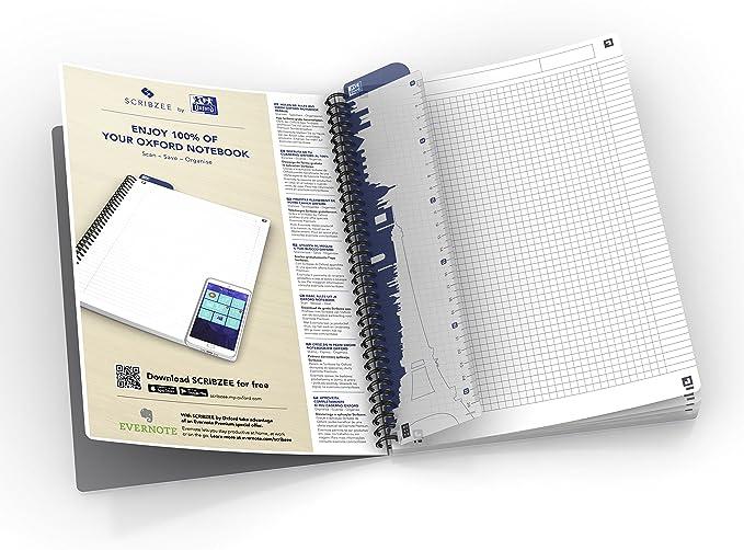 Oxford Essentials - Pack de 5 cuadernos doble espiral, tapa blanda, A5