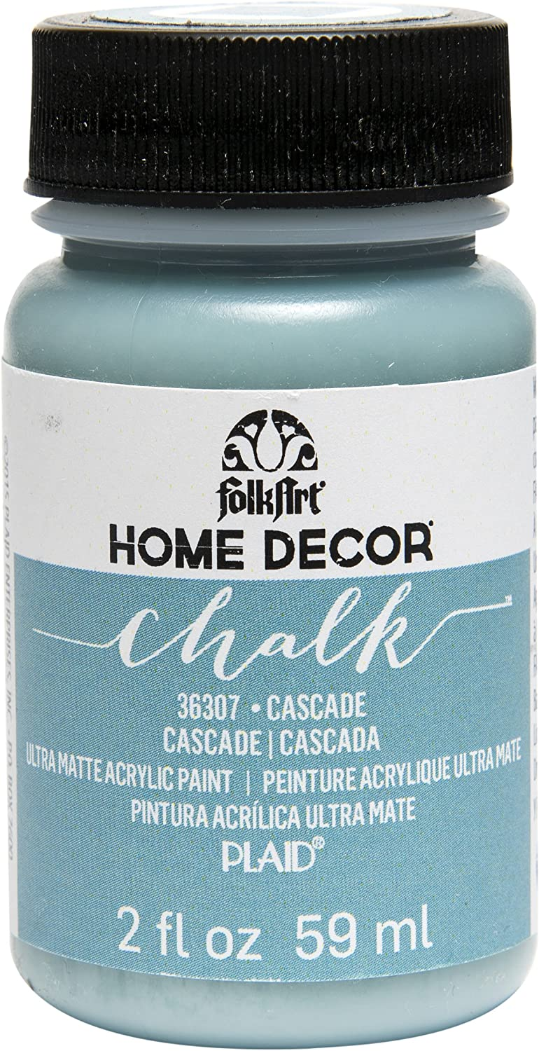 FolkArt 36307 Home Decor Chalk Furniture & Craft Paint in Assorted Colors, 2 ounce, Cascade