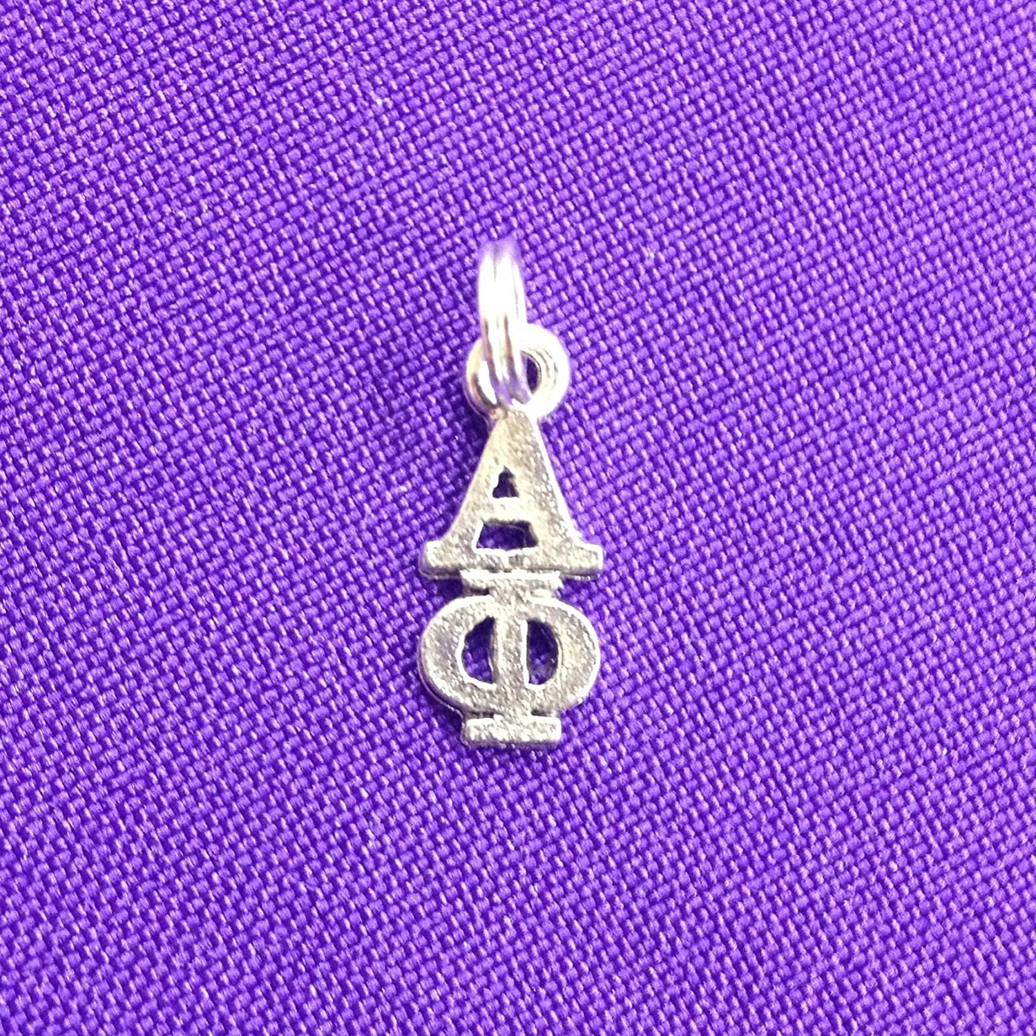 Alpha Phi Sorority Lavaliere in Sterling Plate