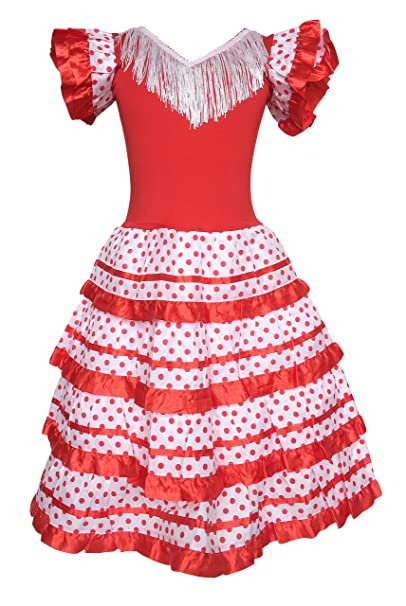 Amazon.com: La Senorita Spanish Flamenco Dress Princess ...