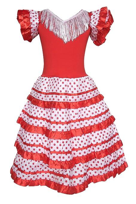 Amazon.com: La Senorita Español Flamenco vestido princesa ...