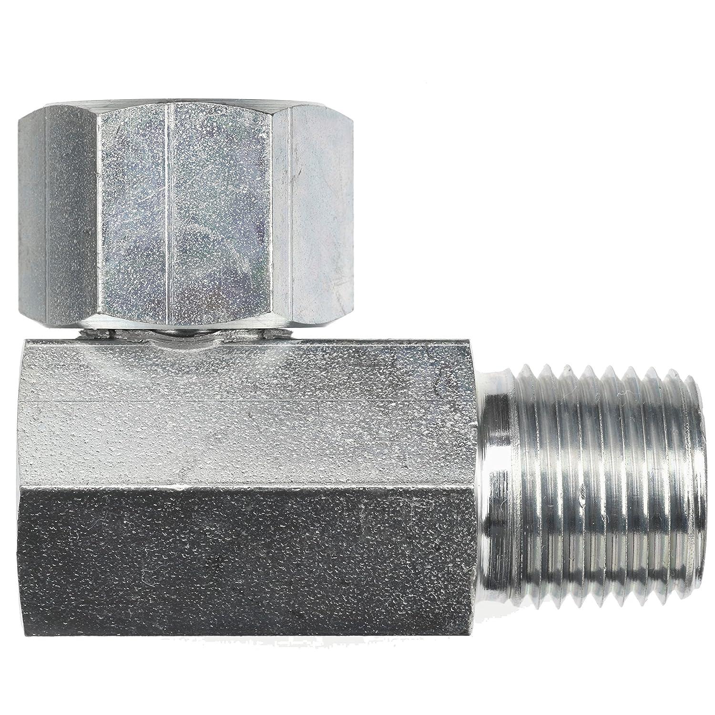 1//8-27 NPTF x 3//8-18 NPSM Thread 1//8-27 NPTF x 3//8-18 NPSM Thread Inc. Brennan Industries 1501-08-06-SS Stainless Steel 90 Degree Elbow Tube Fitting