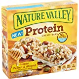 Nature Valley Protein Chewy Bar, Honey, Peanut & Almond with Pumpkin Seeds, 1.42 Ounce, 5 Count (Pack of 6)