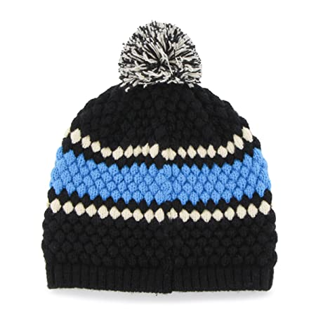 1c2103bed7e9bd Amazon.com : '47 NFL Carolina Panthers Women's Leslie Knit Beanie with Pom,  One Size, Black : Sports & Outdoors