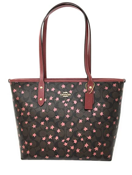 235240261d COACH SIGNATURE STAR CITY TOTE Brown Multi (F38984)  Amazon.co.uk  Shoes    Bags