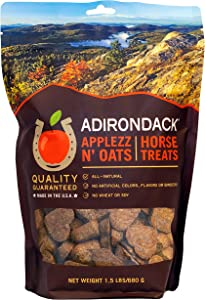 Adirondack Applezz N' Oats Horse Treats [Oven Baked, Heart Shaped Horse Treats with Apples and Oats], 1.5 lb. Pouch