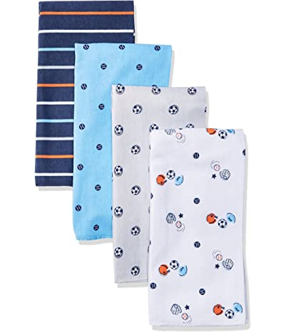 Gerber Baby Boys' 4-Pack Flannel Burp Cloth