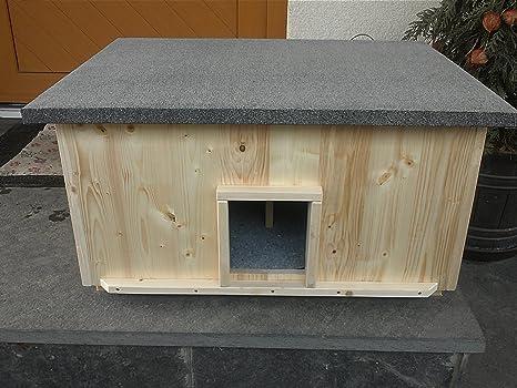 Gato Casa Grande 2 gatos con 2 calentadores gato cabaña de caja de lanzamiento aislado Calefacción