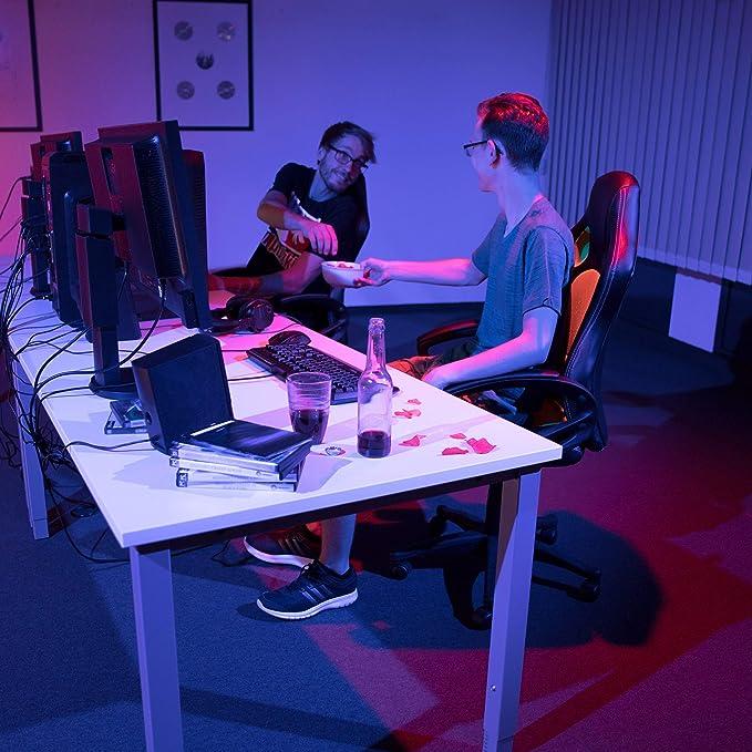 Relaxdays Silla Gaming XR9 Racing, Piel Sintética, Rojo, 110 x 62 x 60 cm: Amazon.es: Hogar