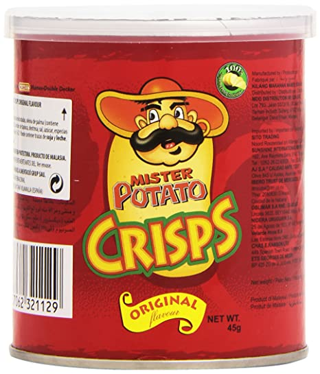 Mister Potato - Crisps Original - Snack salado - 45 g ...