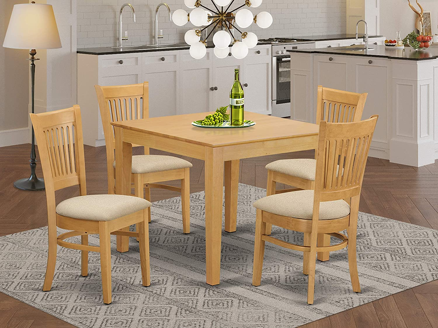 9 PC Table and Chairs set - Kitchen Table and 9 Dining Chairs