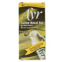 Ayr Saline Nasal Gel, With Soothing Aloe, 0.5 Ounce Tube
