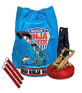 American Ninja Warrior 34' Slackline With Hand Holds