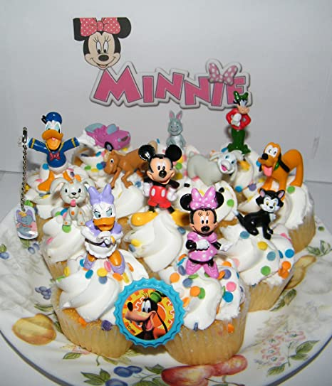Disney Authentic VACATION PLUTO Cake TOPPER Toy Mickey Mouse /& Friends NEW