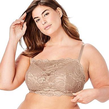c8e9b8aa710 Comfort Choice Women's Plus Size Lace Wireless Cami Bra