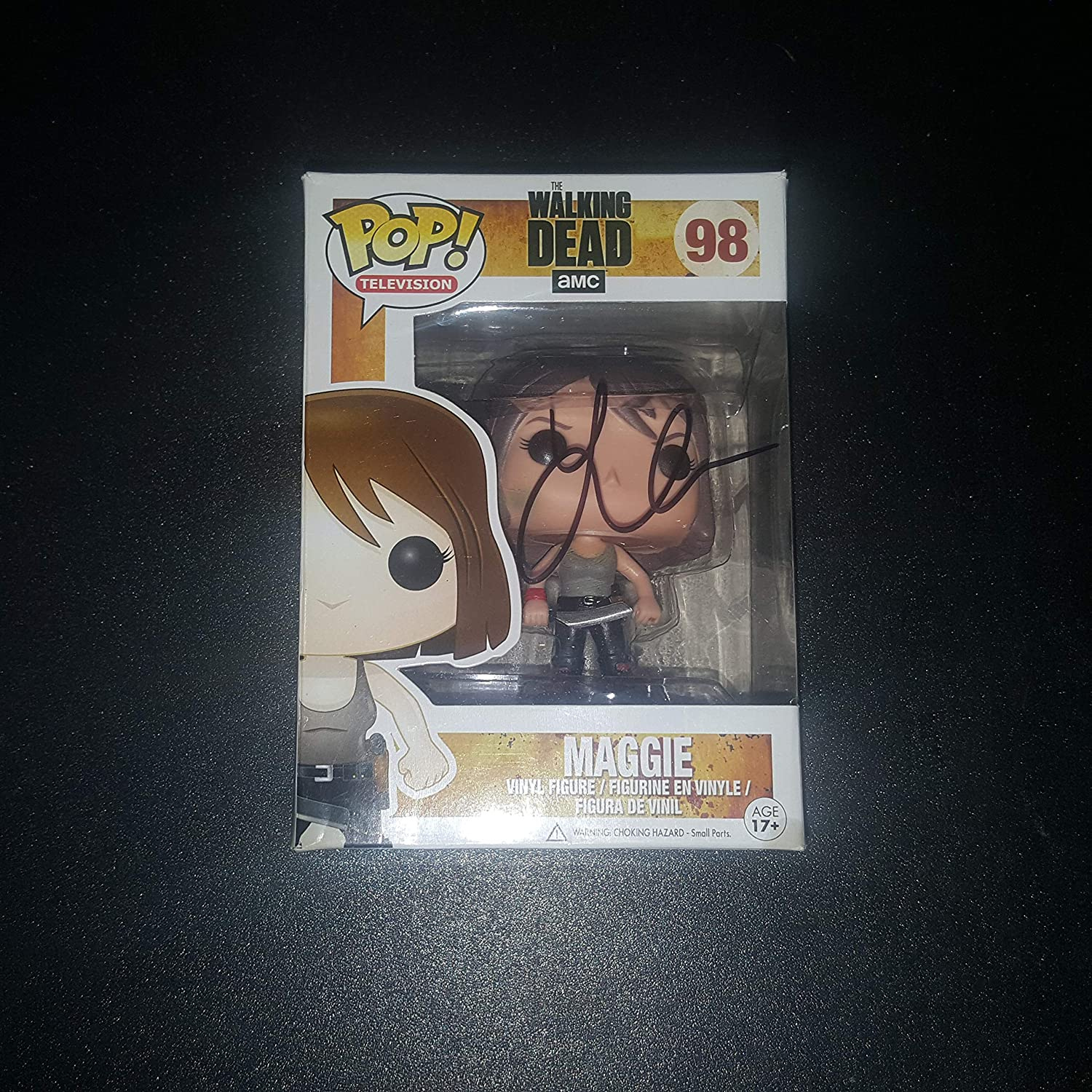 Lauren Cohen - Autographed Signed MAGGIE FUNKO POP 98 Vinyl Figure - The WALKIND DEAD - Zombies